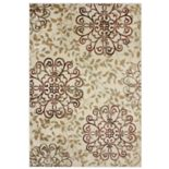Gertmenian Avenue 33 Veranda Birkin Indoor Outdoor Floral Scroll Rug - 5'3'' x 7'5''