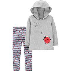 Baby Girl Carter's Ladybug Hoodie & Leggings Set