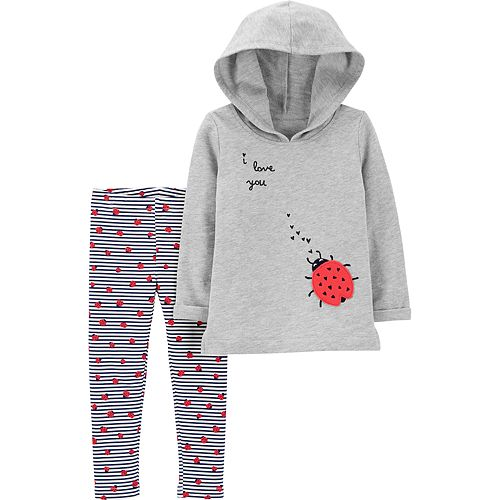 f74a83885 Baby Girl Carter's Ladybug Hoodie & Leggings Set