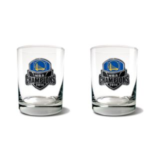 Golden State Warriors 2018 NBA Finals Champions Rocks Glass Set