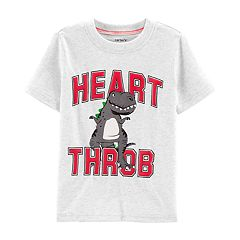 Toddler Boy Carter's Dinosaur 'Heart Throb' Jersey Graphic Tee