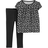 Baby Girl Carter's Animal-Print Top & Leggings Set