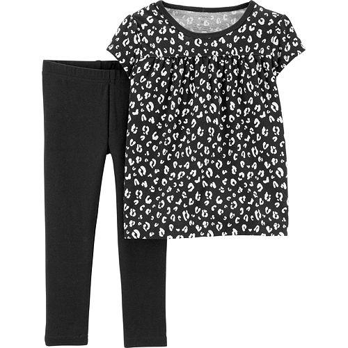 c969858c110b Baby Girl Carter's Animal-Print Top & Leggings Set