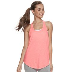 Juniors' SO® Cutout-Back Racerback Tank