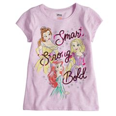 Disney Princess Toddler Girl Belle, Rapunzel & Ariel 'Smart Strong Bold' Sequin Graphic Tee by Disney/Jumping Beans®
