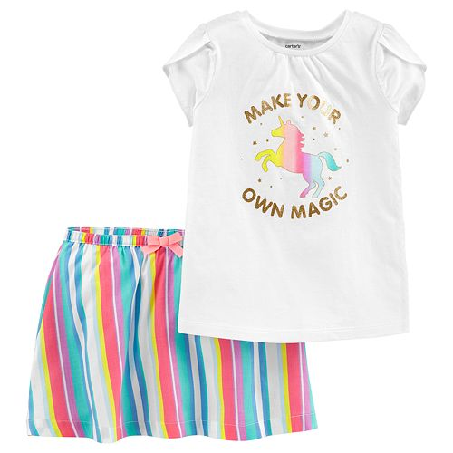 "Baby Girl Carter's ""Make Your Own Magic"" Tee & Striped Skort Set"