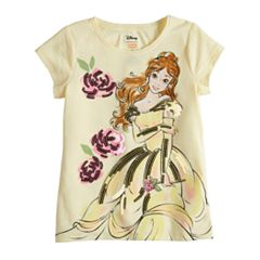 Disney's Beauty & The Beast Belle Toddler Girl Sequin Graphic Tee by Disney/Jumping Beans®