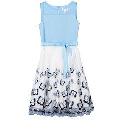 Girls 7-16 Speechless Butterfly Print Scuba Dress