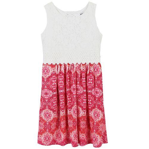 Girls 7-16 & Plus Size Speechless Sleeveless Lace Bodice Dress