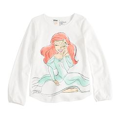 Disney's Ariel Girls' 4-10 Flip Sequin & Glitter Long Sleeve Graphic Tee by Disney/Jumping Beans®