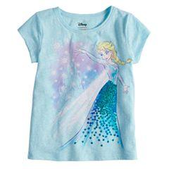 Disney's Frozen Elsa Girls 4-10 Sequin Long Sleeve Graphic Tee by Disney/Jumping Beans®