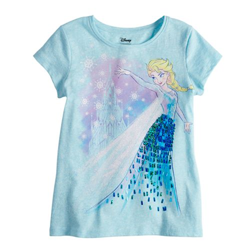 Disney's Frozen Elsa Toddler Girl Sequin Long Sleeve Graphic Tee by Disney/Jumping Beans®