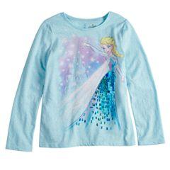 Disney's Frozen Elsa Girls 4-10 Sequin Graphic Tee by Disney/Jumping Beans®