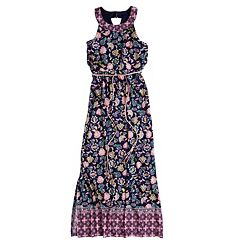 Girls 7-16 & Plus Size Three Pink Hearts Printed Maxi Dress