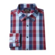 Men's Apt. 9® Slim-Fit Premier Flex Collar Plaid Stretch Dress Shirt