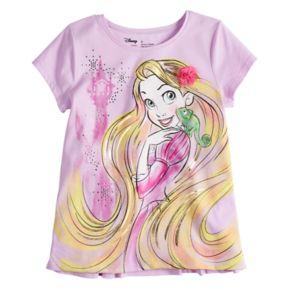 Disney's Rapunzel Girls 4-10 Foil & Rhinestone Graphic Tee by Disney/Jumping Beans®