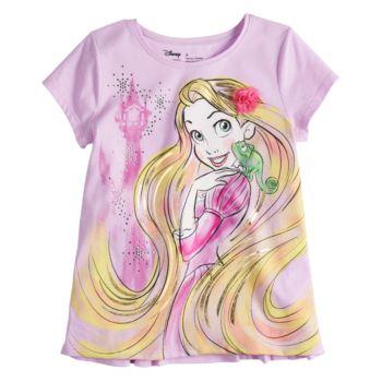 Disney's Rapunzel Toddler Girl Foil & Rhinestone Graphic Tee by Disney/Jumping Beans®
