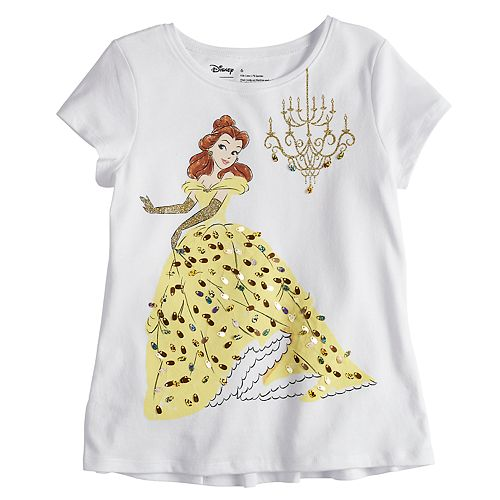 Disney's Belle Girls 4-10 Sequin Graphic Tee by Disney/Jumping Beans®