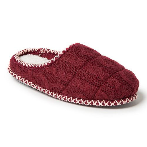 Women's Dearfoams Quilted Cable Knit Clog Slippers