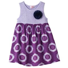Girls 4-6x Design 365 Smocked Bodice Tie-Dye Dress