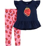 "Baby Girl Carter's ""Berry Amazing"" Tunic & Strawberry Leggings Set"