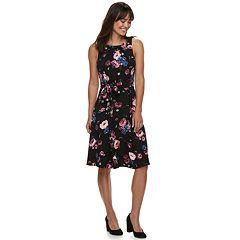 Women's ELLE™ Print Fit & Flare Midi Dress