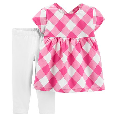 Baby Girl Carter's Gingham Top & Leggings Set