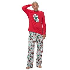 Men's Jammies For Your Families 'Ho Ho Ho!' Comic Book Top & Microfleece Bottoms Pajama Set