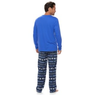 "Men's Jammies For Your Families Hanukkah ""Oy to the World"" Top & Microfleece Bottoms Pajama Set"