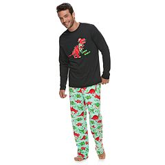 Men's Jammies For Your Families Dino 'Rawr to the World' Top & Microfleece Bottoms Pajama Set