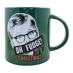"A Christmas Story ""Oh Fudge It?s Christmas"" 15-ounce Boxed Ceramic Mug"
