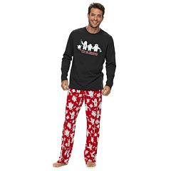 Men's Jammies For Your Families 'Yeti For Christmas' Top & Microfleece Bottoms Pajama Set