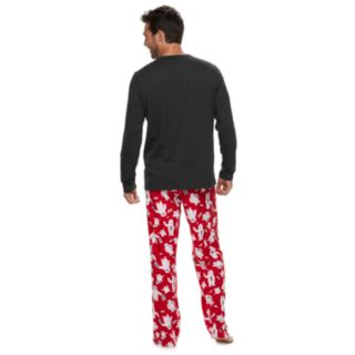 "Men's Jammies For Your Families ""Yeti For Christmas"" Top & Microfleece Bottoms Pajama Set"