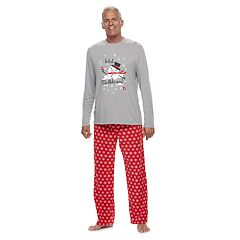 Men's Jammies For Your Families Snowman & Snowflakes 'Total Meltdown' Top & Microfleece Bottoms Pajama Set