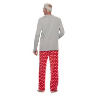 "Men's Jammies For Your Families Snowman & Snowflakes ""Total Meltdown"" Top & Microfleece Bottoms Pajama Set"