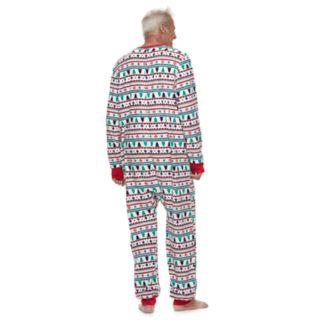 Men's Jammies For Your Families Fairisle Microfleece One-Piece Pajamas