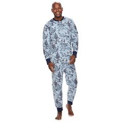 f6420d54c329 Men s Jammies For Your Families Holiday Camouflage Microfleece One-Piece  Pajama Set