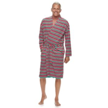 Men's Jammies For Your Families Holiday Microfleece Striped Robe