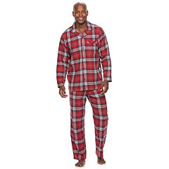 Men's Jammies For Your Families Plaid Flannel Top & Bottoms Pajama Set