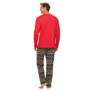 "Men's Jammies For Your Families ""Guacin' Around the Christmas Tree"" Top & Holiday Taco Party Fairisle Bottoms Set"