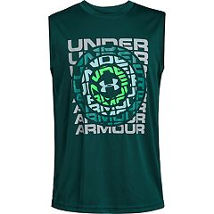 Boys 8-20 Under Armour Dial Wordmark Muscle Tee