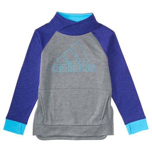 Toddler Girl adidas Purple Colorblock Mockneck Sweatshirt