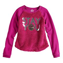 Girls 7-16 & Plus Size SO® Sherpa Pullover Sweatshirt