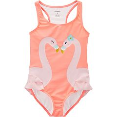 Girls 4-14 Carter's Flamingo One-Piece Swimsuit