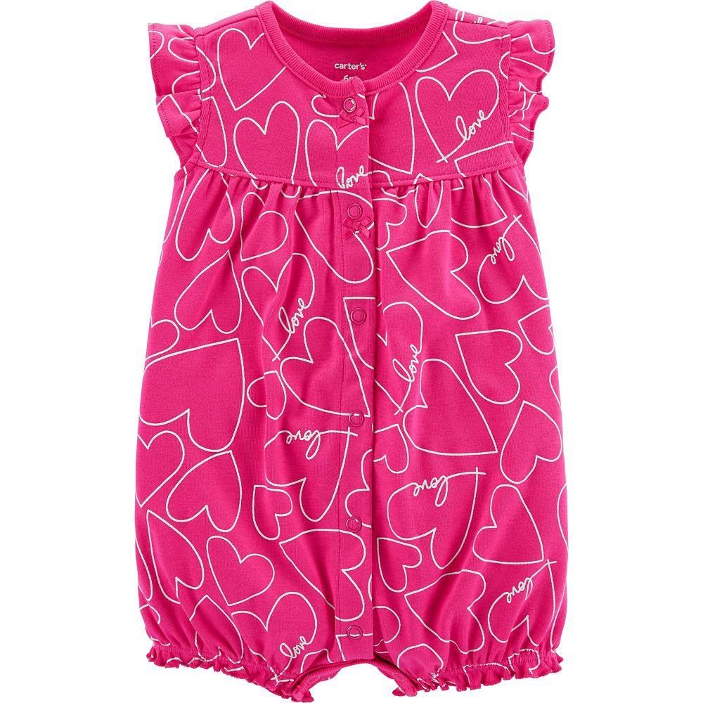 Baby Girl Carter's Heart Ruffle Romper