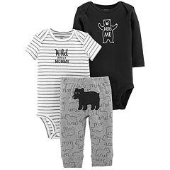 Baby Boy Carter's 'Wild About Mommy' Bodysuit, Bear Bodysuit & Pants Set