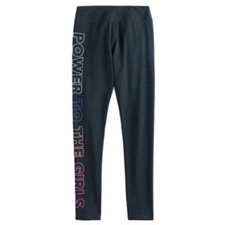 "Girls 7-16 SO® ""Power to the Girls"" Yoga Leggings"