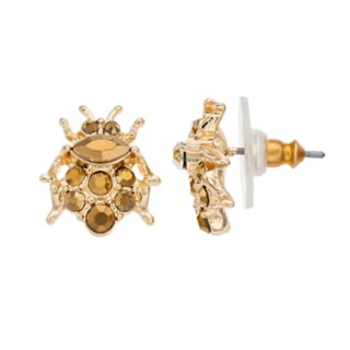 Simply Vera Vera Wang  Gold Tone Beetle Stud Earrings