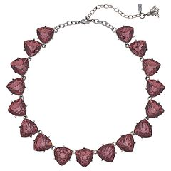 Simply Vera Vera Wang Red Triangle Link Collar Necklace