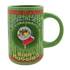 Elf the Movie 'Cotton-Headed Ninny Muggins' Snow Globe Spinner Ceramic Mug
